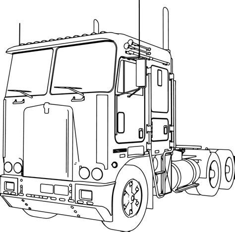 Kenworth K100 Long Trailer Truck Coloring Page Food