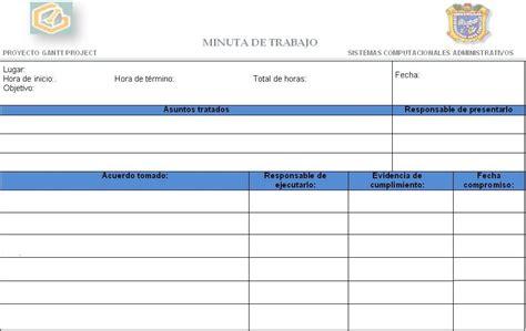 formato de word equipo 3 formato de minutas del proyecto