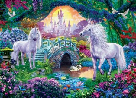 unicorns fantasy abstract background wallpapers
