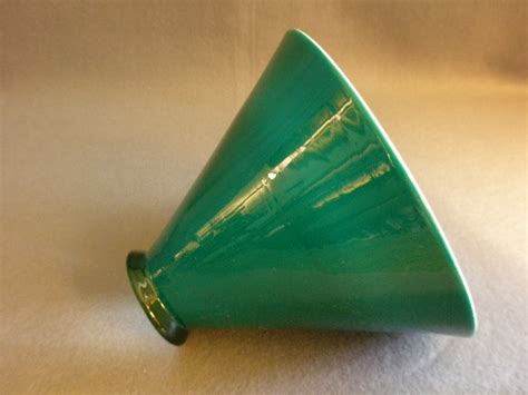 cone shaped table l shades emerald green cased white glass cone shape l shade from