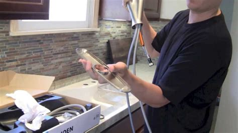 install  kitchen faucet step  step youtube