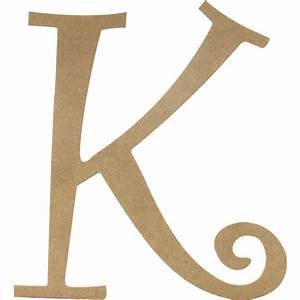 14quot decorative wooden curly letter k ab2155 With curly wooden letters