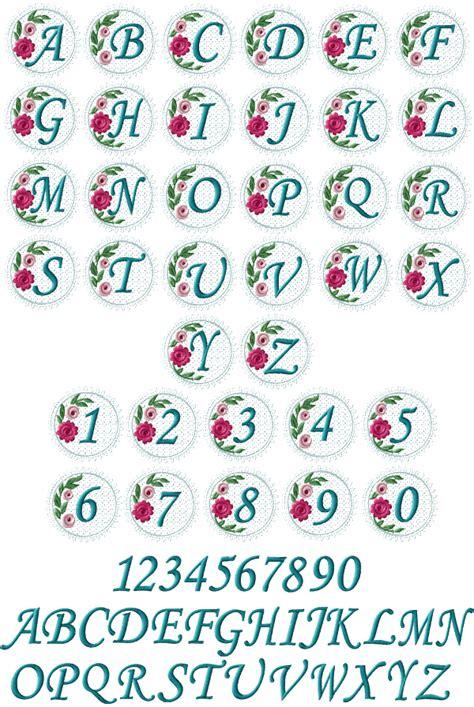 lacy roses monogram