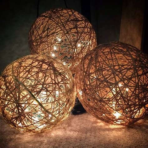 Twine Spheres Diy  Ee  Lights Ee   Diy And Crafts And Cords