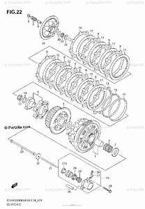Suzuki Motorcycle 2005 Oem Parts Diagram For Clutch