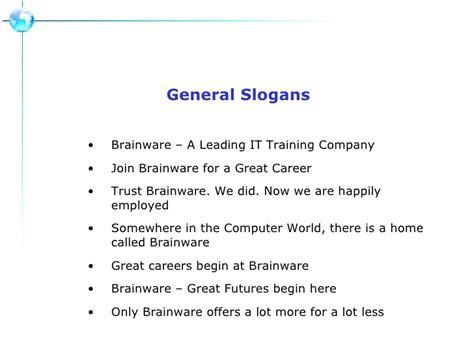 Bainware Slogans