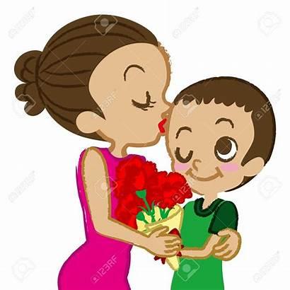 Kiss Clipart Mother Son Kisses Mom Kissing