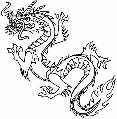 Dragon Coloring Pages Chinese Printable