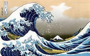 Vague de Kanawaga de l'artiste japonais Hokusai