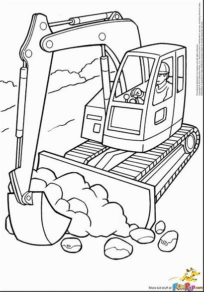 Coloring Pages Equipment Heavy Construction Printable Getcolorings
