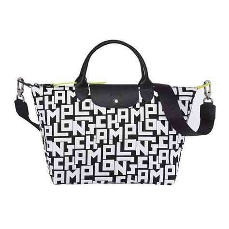 longchamp    bauhaus inspired monogram collection complete  trendy fanny packs