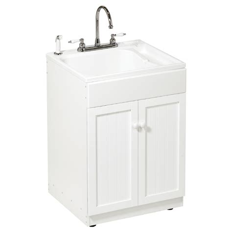Utility Sink In Cabinet by Asb All In One Utility Sink Cabinet Kit At Lowes