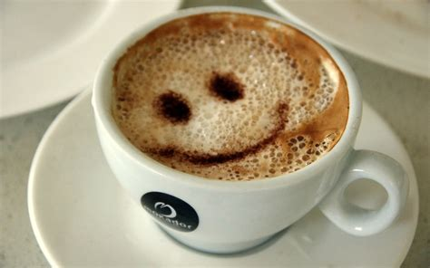 cuisine cappuccino coffee with a smile wallpapers and images wallpapers