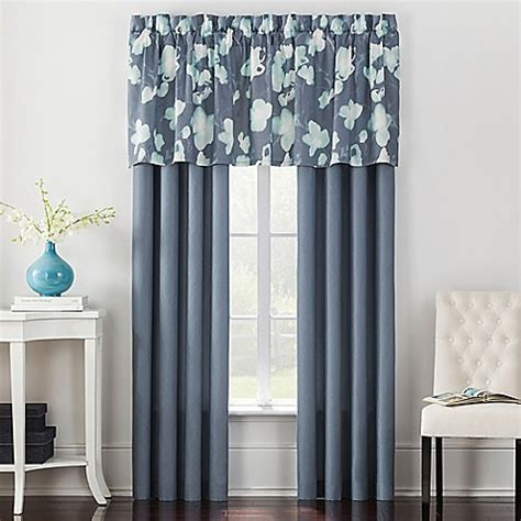 Inch Valance by Posey 24 Inch Window Valance In Blue Bed Bath Beyond
