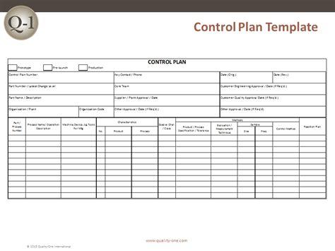 control plan control plan development quality