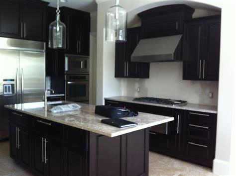kitchen floor ideas with dark cabinets dark kitchen cabinets with tile floor quicua com