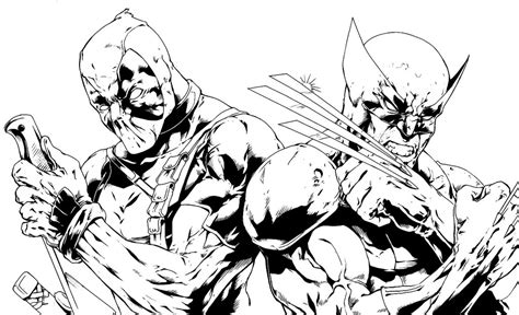 Deadpool Coloring Pages 04