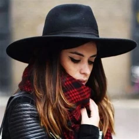 Sunlynn Wide Brim Fedora Hat Women Like Europe Style Wool