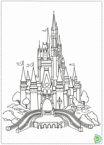 Kolorowanki Disney Coloring Pages Disneyland Castle