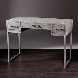 Southern enterprises carabelle reptile desk in gray ho9799 for In home furniture enterprise