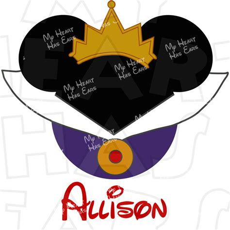 evil queen  snow white mickey mouse head instant