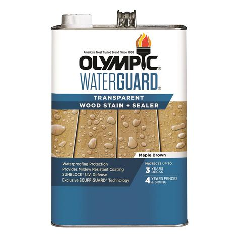 olympic waterguard  gal maple brown transparent wood