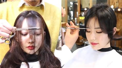 How to cut Bangs Korean Style 💇 Fringe Cutting and Styling