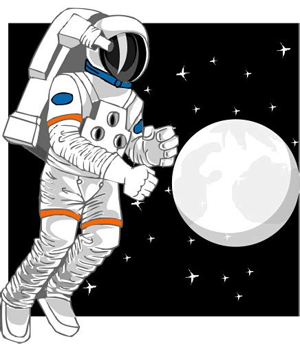 astronaut on moon clipart space clipart astronaut pencil and in color space