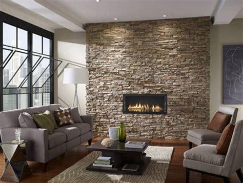 desain interior rumah minimalis modern  stone wall
