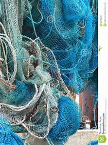 Commercial Fishing Net Hanging Out To Dry Stock Images ...