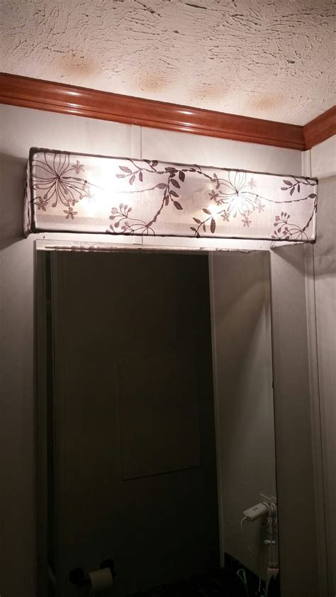 diy vanity light shade dowel rods   curtain sheer hot