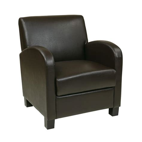 leather club chair for ospdesigns espresso eco leather club arm chair met807res 8933