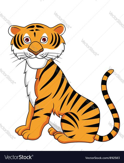 tiger clipart vector cartoon pencil   color tiger