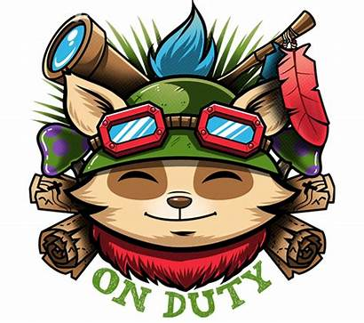 Teemo Duty Daily Shirts Transparent Stay Date