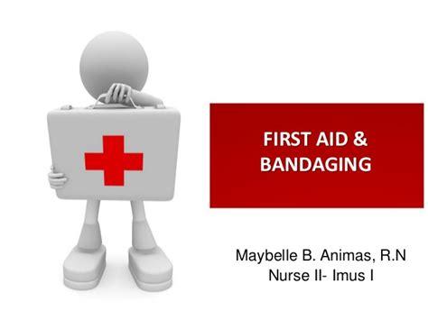 aid bandaging