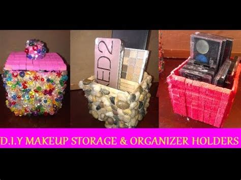 diy makeup storage organizer holders  clothes