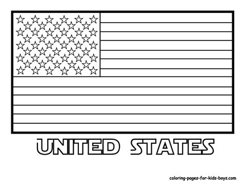 united states  america flag coloring sheet culture