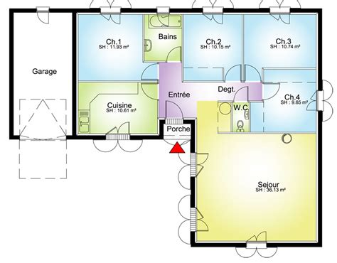 plan maison 150m2 4 chambres maison contemporaine plans maisons