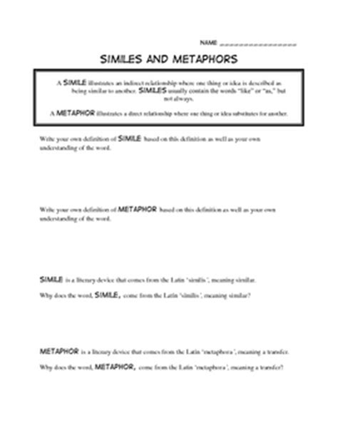 17 best images of simile poem worksheets simile