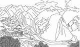 Machu Picchu Coloring sketch template