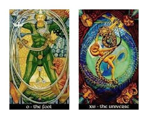 Thoth Deck The Fool by Thoth Fool Tarot Card Tutorial Esoteric Meanings