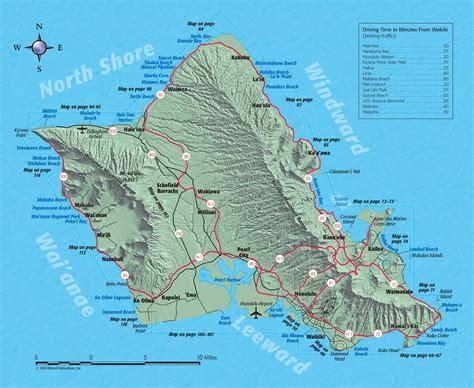 oahu map map  oahu hawaii revealed
