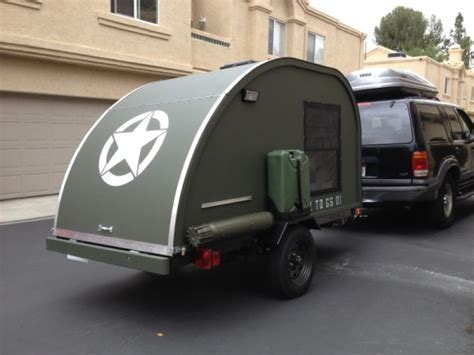 Man Builds $2k Military Style Teardrop Trailer