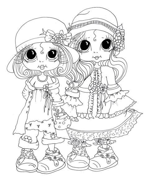 besties digital stamps  sketch coloring page