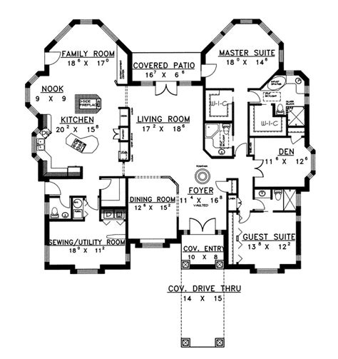 luxury ranch floor plans jocelyn place luxury ranch home plan 088d 0070 house plans and more
