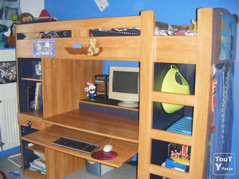 lit à étage avec bureau vends lit mezzanine avec bureau et rangements lyon 08 69008