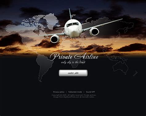 airport template free web private airline flash website template best website