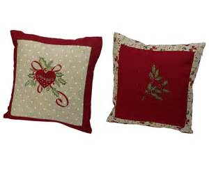 festive embroidered christmas cushion cover decorative xmas scatter 16 quot x 16 quot ebay