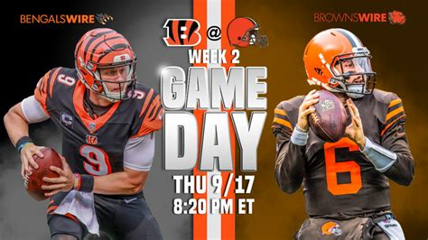 bengals  browns  tnf  stream time tv info