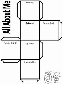For the beginning of the year revisiting get to know you for About me template for students